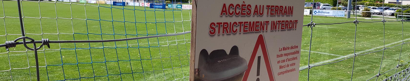 Signalétique du stade de football