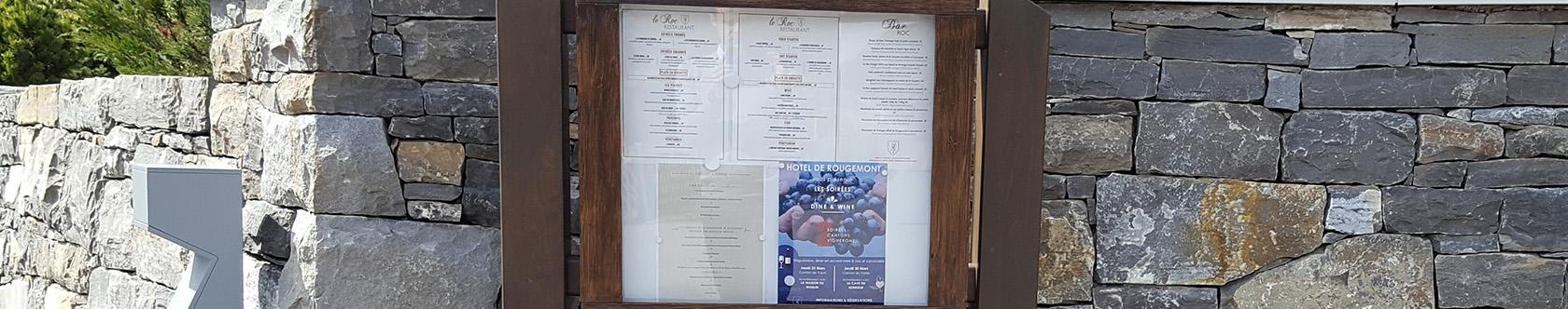 Panneau d'affichage restaurant Rougemont