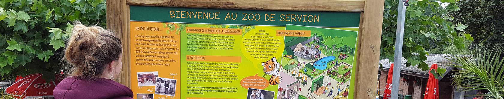 Parcours pédagogique du zoo de Servion