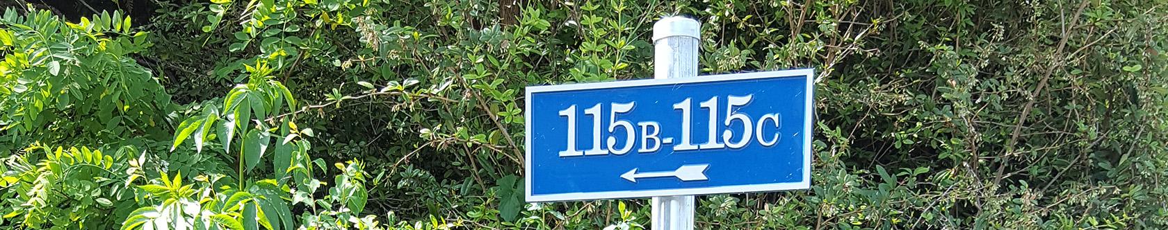 Plaques de rue et numéros de maison