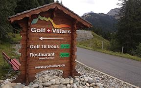 Panneaux d'accueil et d'information golf Villars