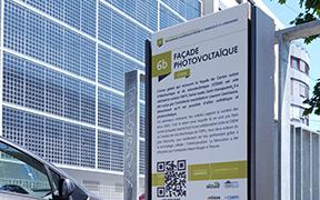 Panneaux didactiques et ludiques avec Qr codes Neuchâtel