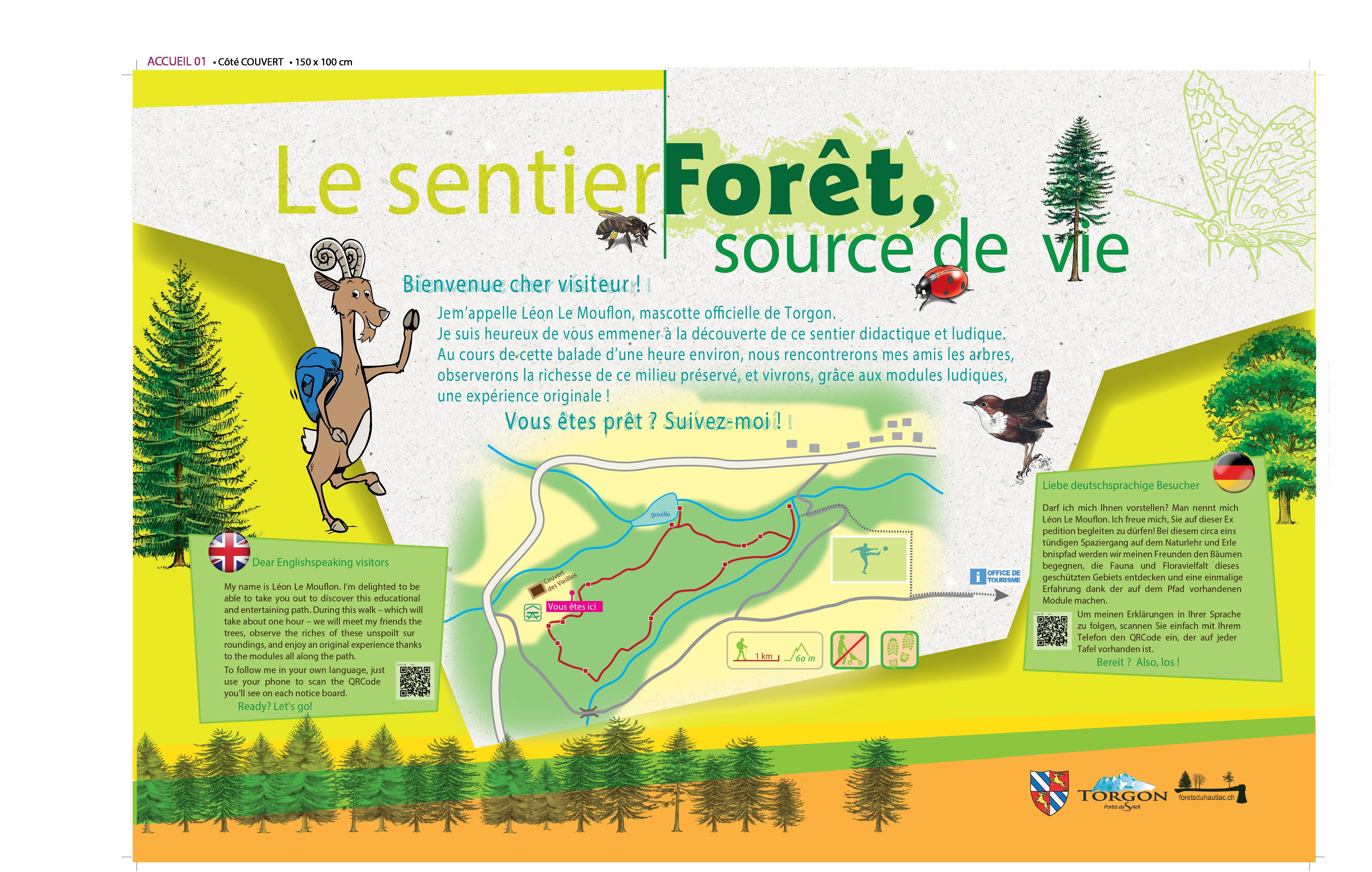 Plans et parcours didactiques forêt le sentier source de vie