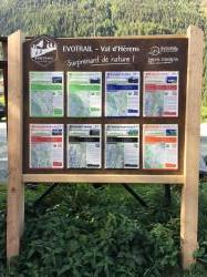 Parcours trail Evolène - panneau d'accueil
