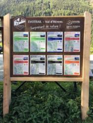 Panneaux d'accueil et d'information Evolene