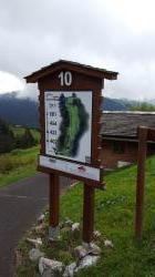 Signalétique du golf de Villars
