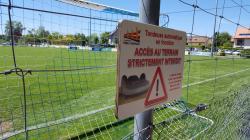 Signalétique stade de football Perly